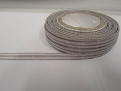 Light Grey pencil stripe ribbon 2 metres or full roll (25 metres) 5mm 10mm double sided